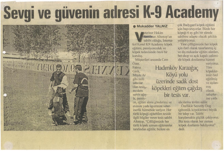 Sevgi ve Güven Adresi K-9 Academy